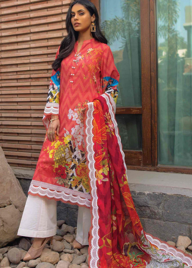 Taabir By Afsaneh Embroidered Lawn Suits Unstitched 3 Piece AFH21T Mavi B - Summer Collection