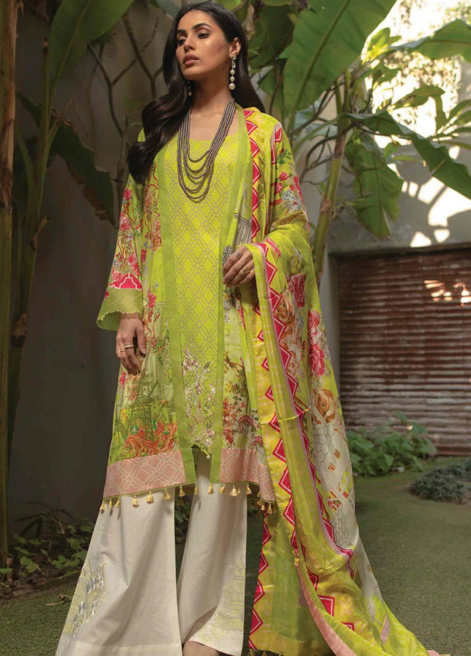 Taabir By Afsaneh Embroidered Lawn Suits Unstitched 3 Piece AFH21T Mehri - Summer Collection