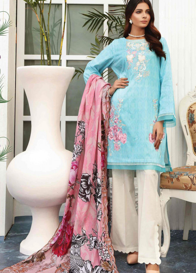 Taabir By Afsaneh Embroidered Lawn Suits Unstitched 3 Piece AFH21T Parmin - Summer Collection