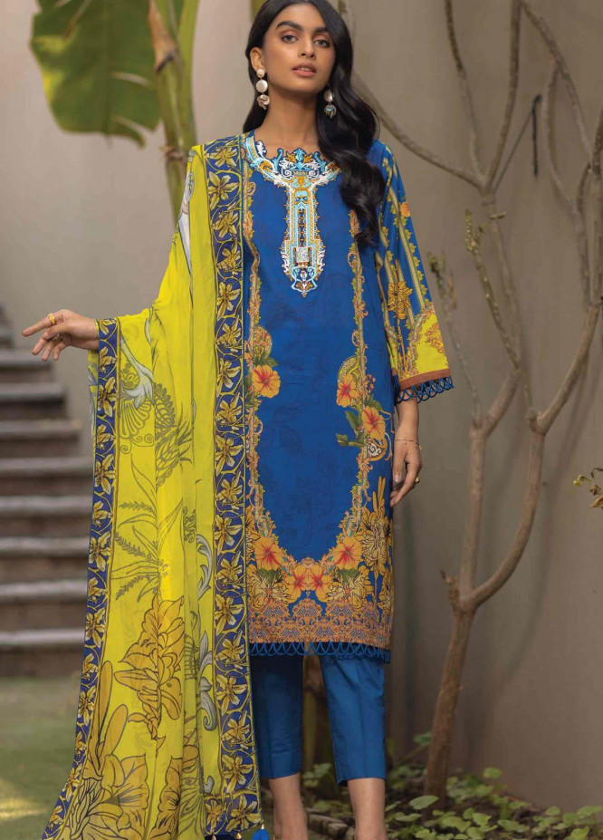 Taabir By Afsaneh Embroidered Lawn Suits Unstitched 3 Piece AFH21T Roja - Summer Collection