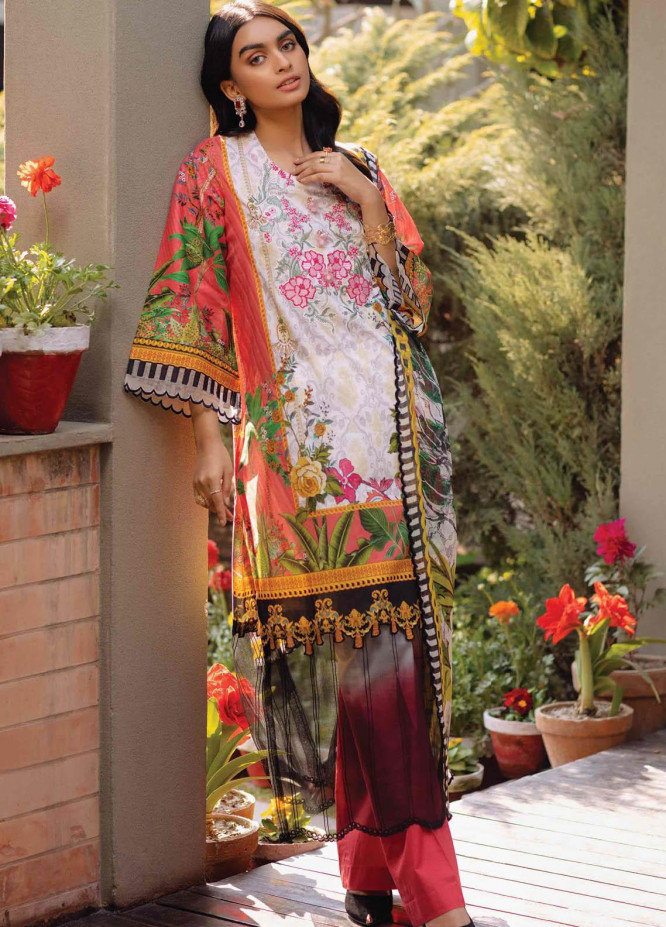 Taabir By Afsaneh Embroidered Lawn Suits Unstitched 3 Piece AFH21T Rosana - Summer Collection