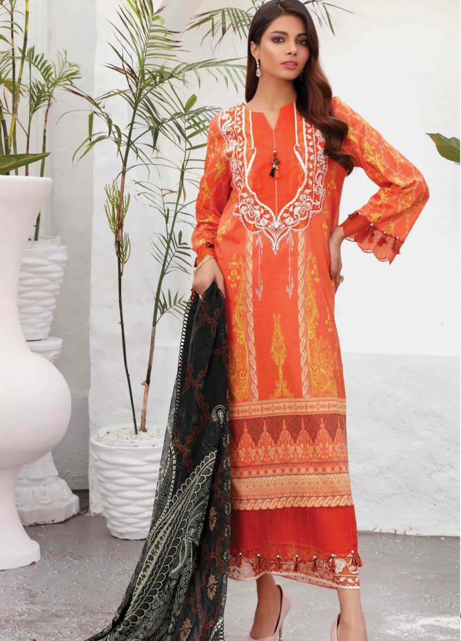 Taabir By Afsaneh Embroidered Lawn Suits Unstitched 2 Piece AFH21T Zernish B - Summer Collection