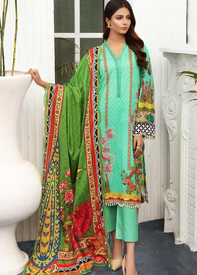 Taabir By Afsaneh Embroidered Lawn Suits Unstitched 2 Piece AFH21T-2 06 Kayan-B - Summer Collection