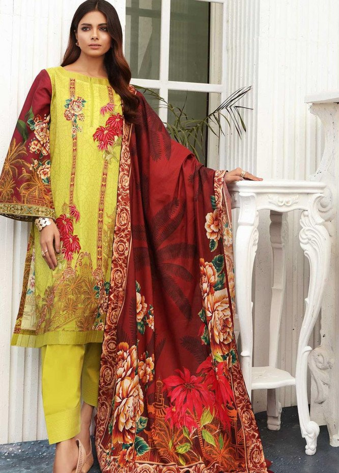 Taabir By Afsaneh Embroidered Lawn Suits Unstitched 2 Piece AFH21T-2 07 Effat-A - Summer Collection