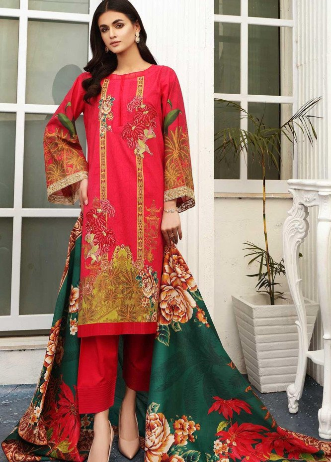 Taabir By Afsaneh Embroidered Lawn Suits Unstitched 2 Piece AFH21T-2 08 Effat-B - Summer Collection