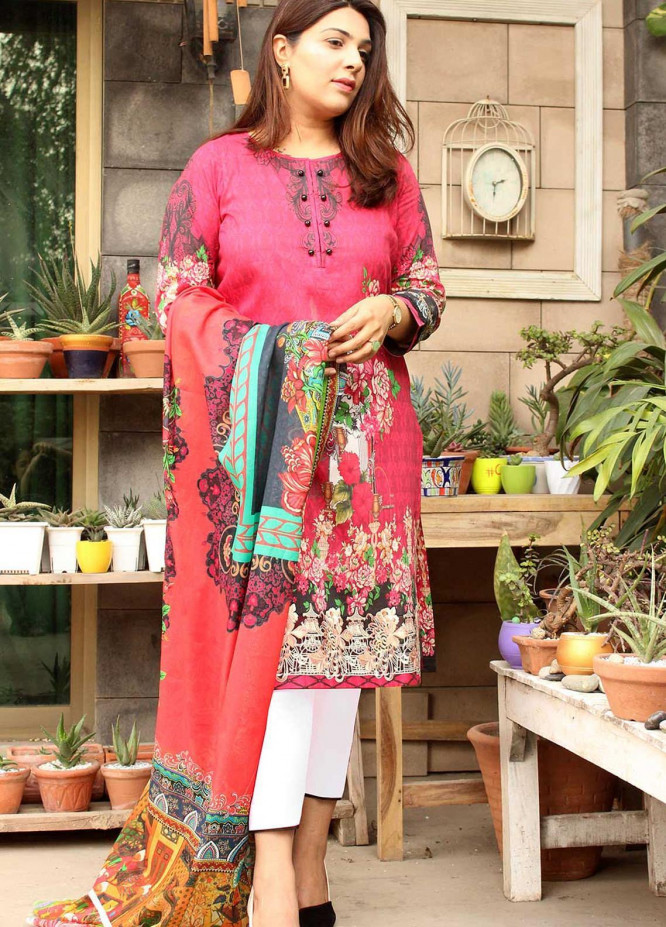 Taabir By Afsaneh Embroidered Lawn Suits Unstitched 3 Piece AFH21T-2 15 Negar - Summer Collection