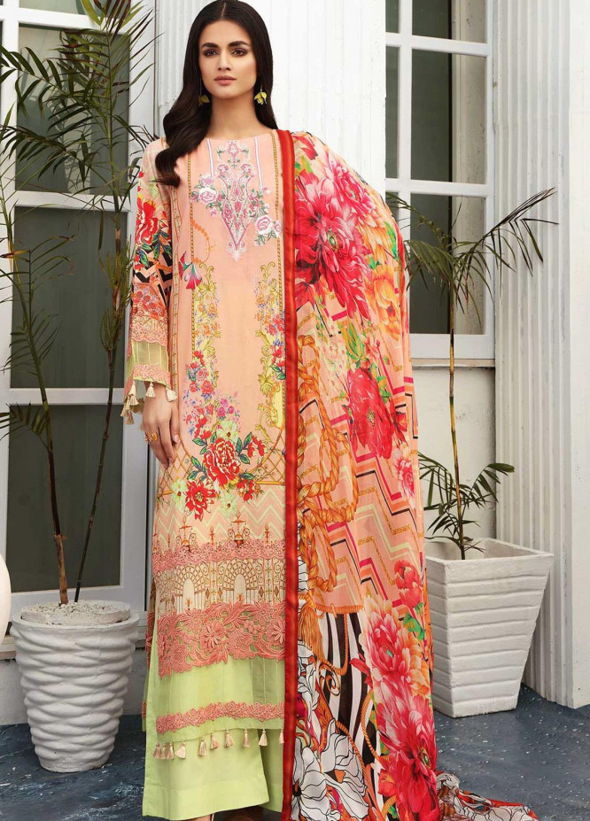 Taabir By Afsaneh Embroidered Lawn Suits Unstitched 3 Piece AFH21T-2 16 Irsa - Summer Collection