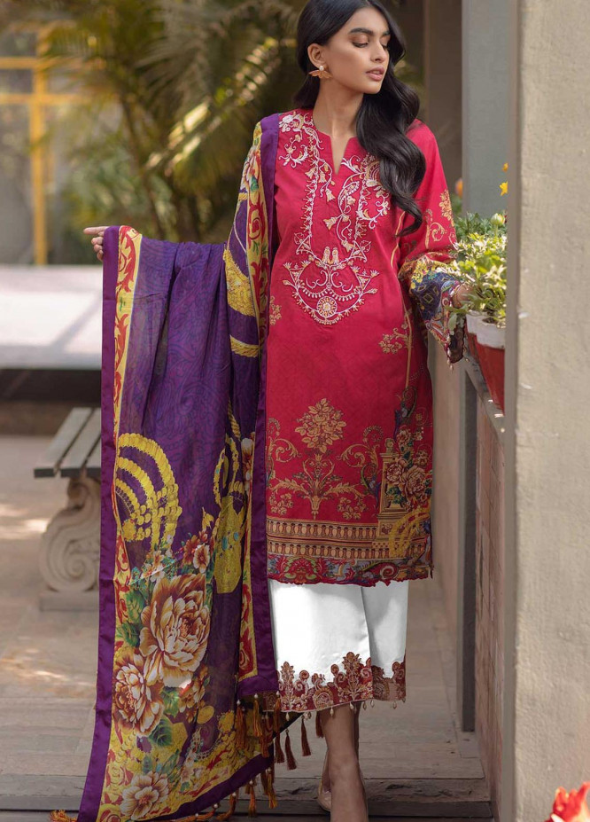 Taabir By Afsaneh Embroidered Lawn Suits Unstitched 3 Piece AFH21T-2 19 Esmat - Summer Collection