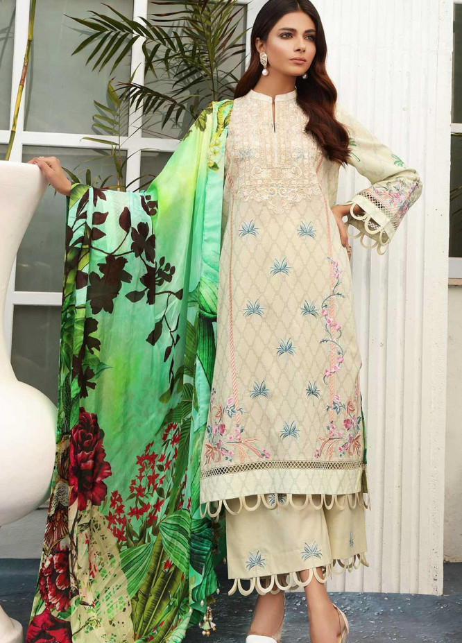 Taabir By Afsaneh Embroidered Lawn Suits Unstitched 3 Piece AFH21T-2 20 Zarrin - Summer Collection