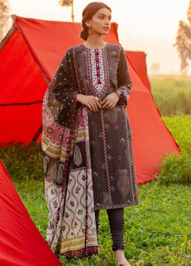 Tabeer by Cross Stitch Embroidered Lawn Suits Unstitched 3 Piece CS21T 14-BLAS RELIEF - Summer Collection