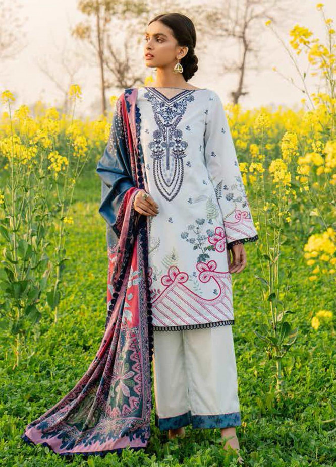 Tabeer by Cross Stitch Embroidered Lawn Suits Unstitched 3 Piece CS21T 18-MYSTIC CORAL - Summer Collection