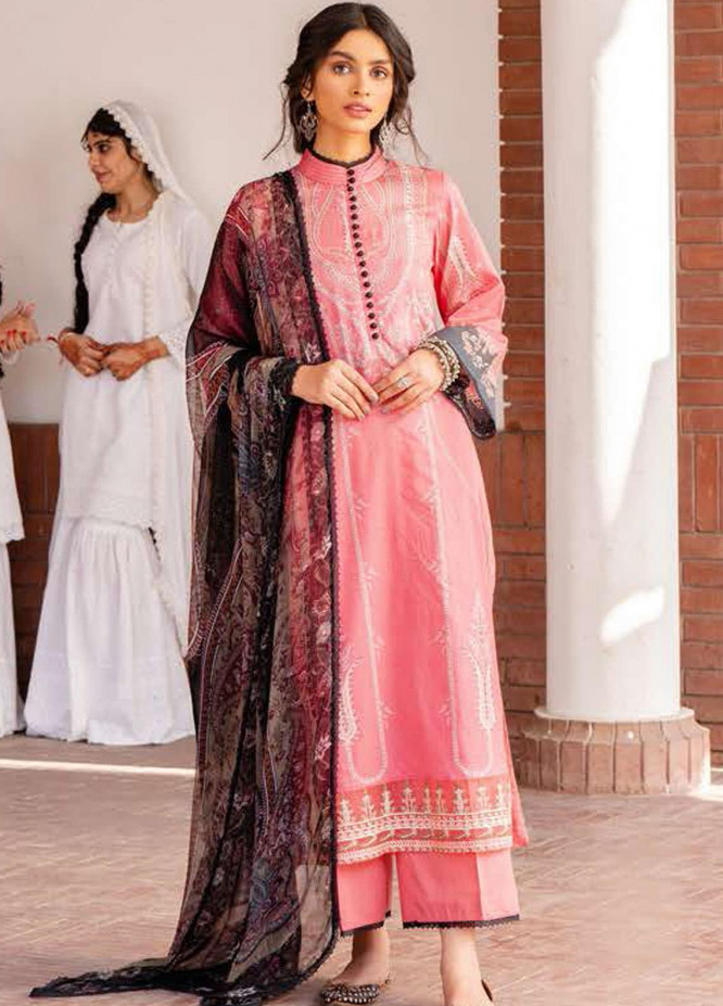 Tabeer by Cross Stitch Embroidered Lawn Suits Unstitched 3 Piece CS21T 22-VERMILLION BLISS - Summer Collection