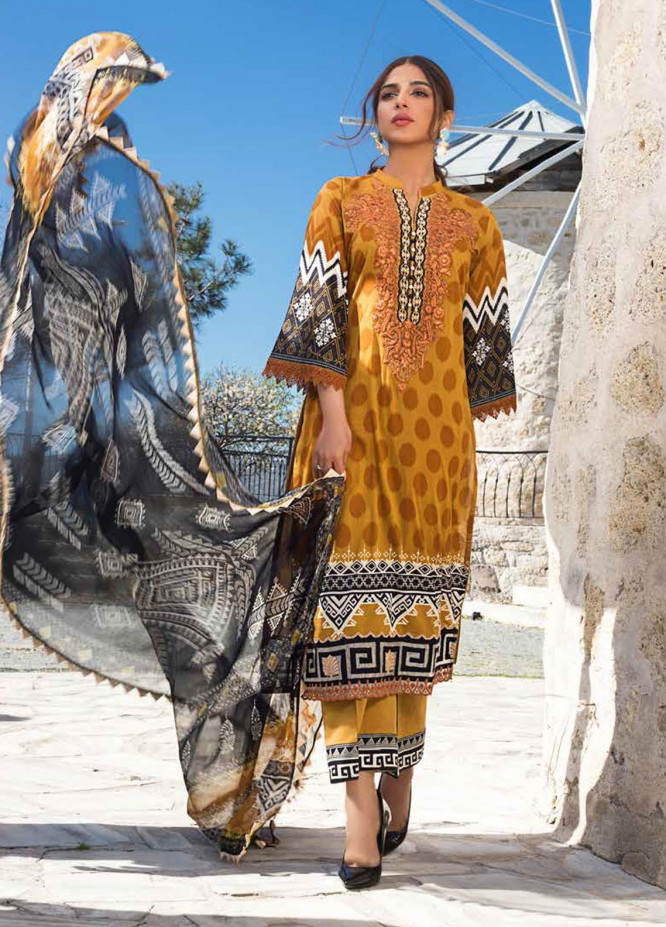 Tahra by Zainab Chottani Embroidered Lawn Suits Unstitched 3 Piece TZC21L 6A DOTTED CRUSH - Summer Collection