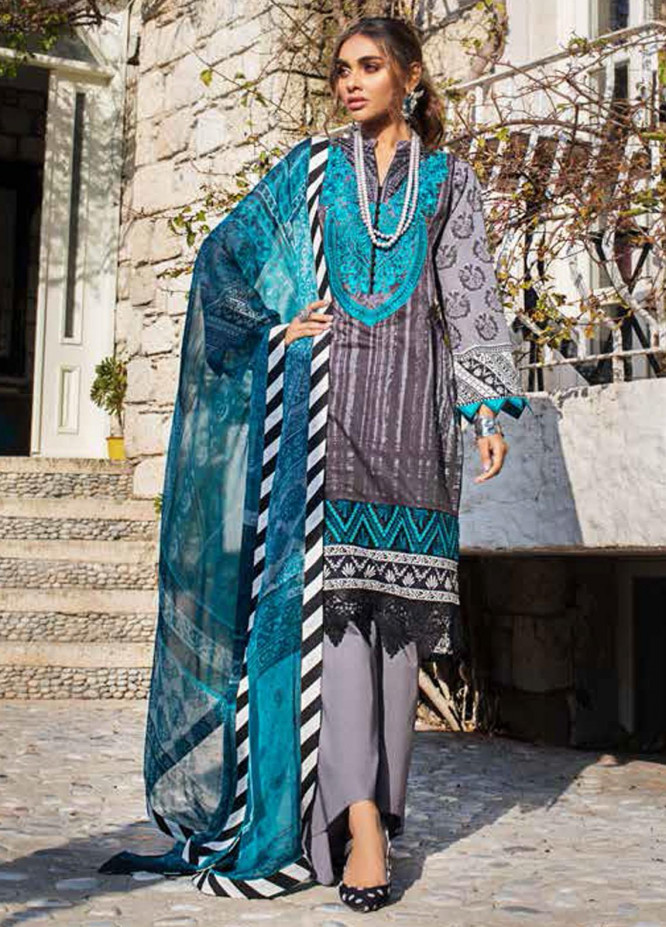 Tahra by Zainab Chottani Embroidered Lawn Suits Unstitched 3 Piece TZC21L 7A STUNNER NUMBER - Summer Collection