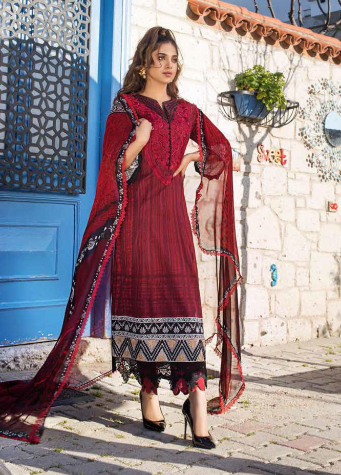 Tahra by Zainab Chottani Embroidered Lawn Suits Unstitched 3 Piece TZC21L 7B STUNNER NUMBER - Summer Collection