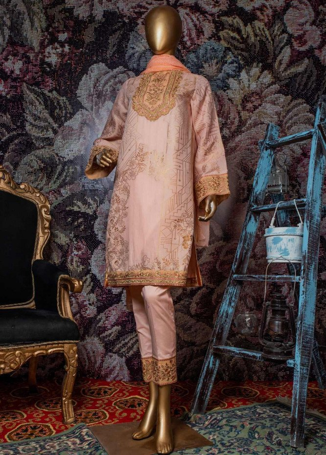 Tasneem Shamim Embroidered Jacquard Unstitched 3 Piece Suit TS19RKS CB-01 - Festive Collection