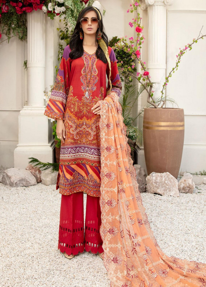 Tehzeeb by Riaz Arts Embroidered Lawn Suits Unstitched 3 Piece RA21TZ TL-21 - Summer Collection