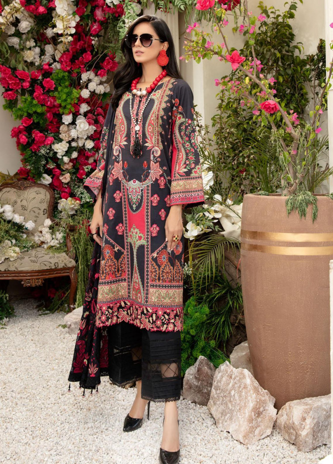 Tehzeeb by Riaz Arts Embroidered Lawn Suits Unstitched 3 Piece RA21TZ TL-24 - Summer Collection