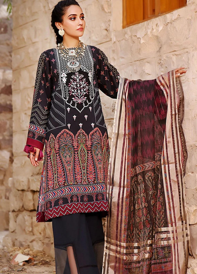 Threads & Motifs Embroidered Lawn Suits Unstitched 2 Piece THM21U 7288 - Summer Collection