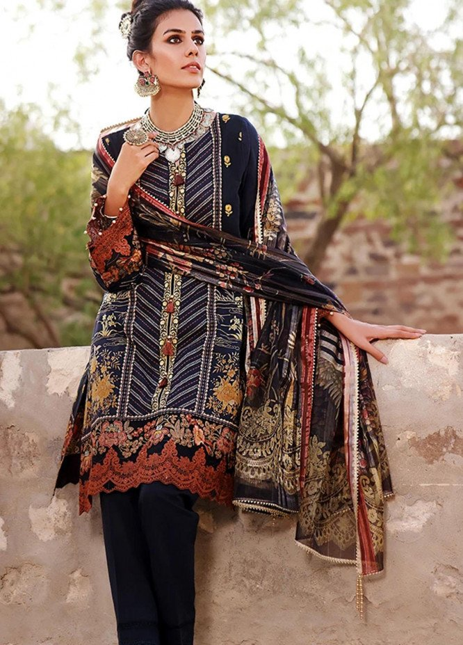 Threads & Motifs Embroidered Lawn Suits Unstitched 2 Piece THM21U 7287 - Summer Collection