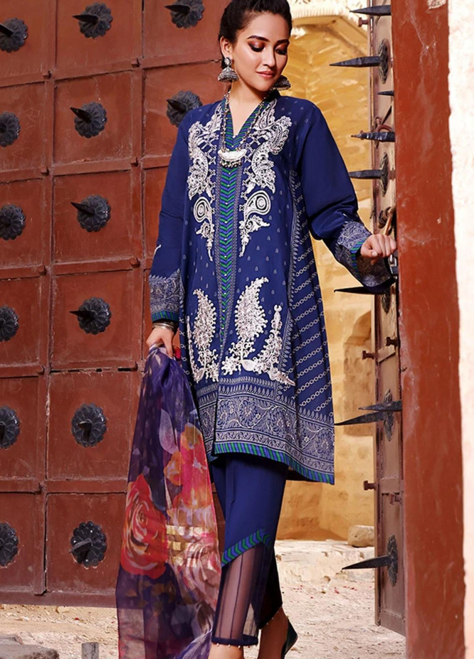 Threads & Motifs Embroidered Lawn Suits Unstitched 2 Piece THM21U 7257 - Summer Collection