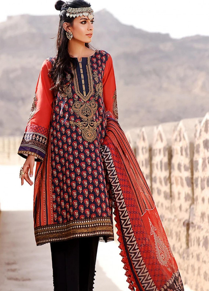 Threads & Motifs Embroidered Lawn Suits Unstitched 2 Piece THM21U 7242 - Summer Collection