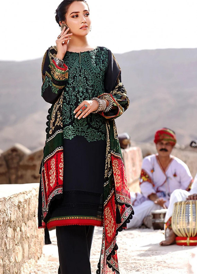 Threads & Motifs Embroidered Lawn Suits Unstitched 2 Piece THM21U 7263 - Summer Collection