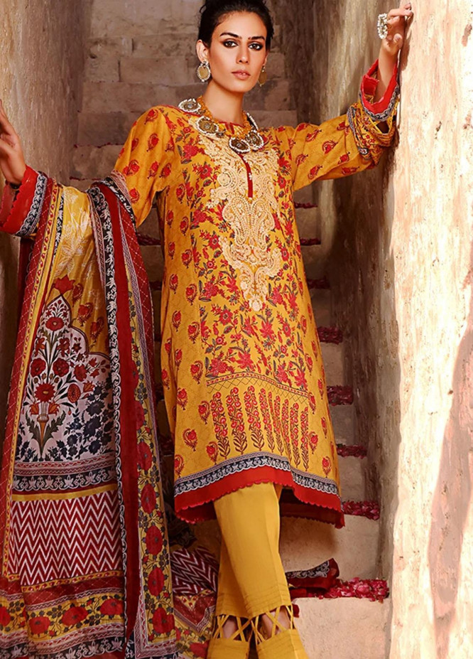 Threads & Motifs Embroidered Lawn Suits Unstitched 2 Piece THM21U 7266 - Summer Collection
