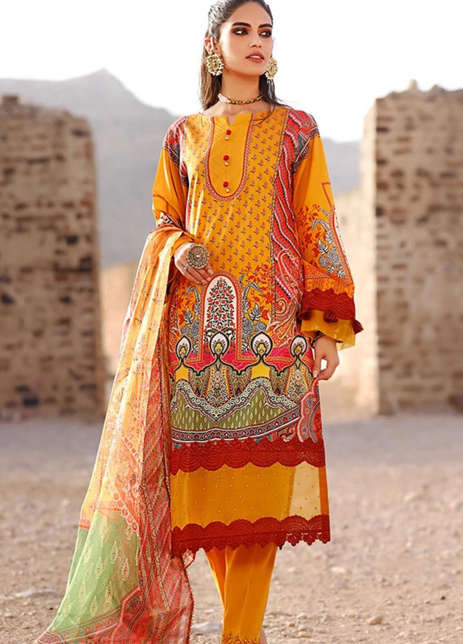 Threads & Motifs Embroidered Lawn Suits Unstitched 2 Piece THM21U 7323 - Summer Collection