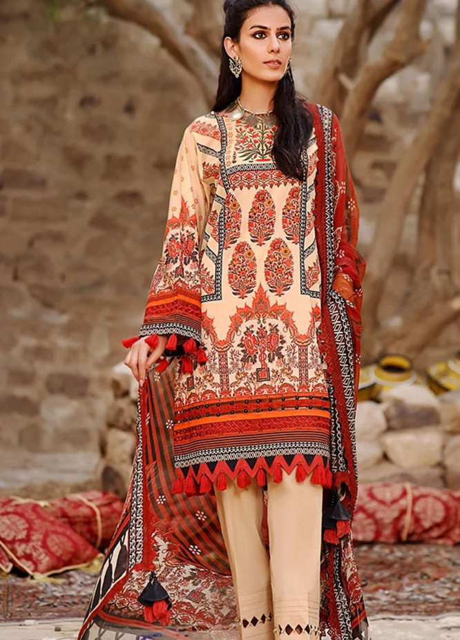 Threads & Motifs Embroidered Lawn Suits Unstitched 2 Piece THM21U 7338 - Summer Collection