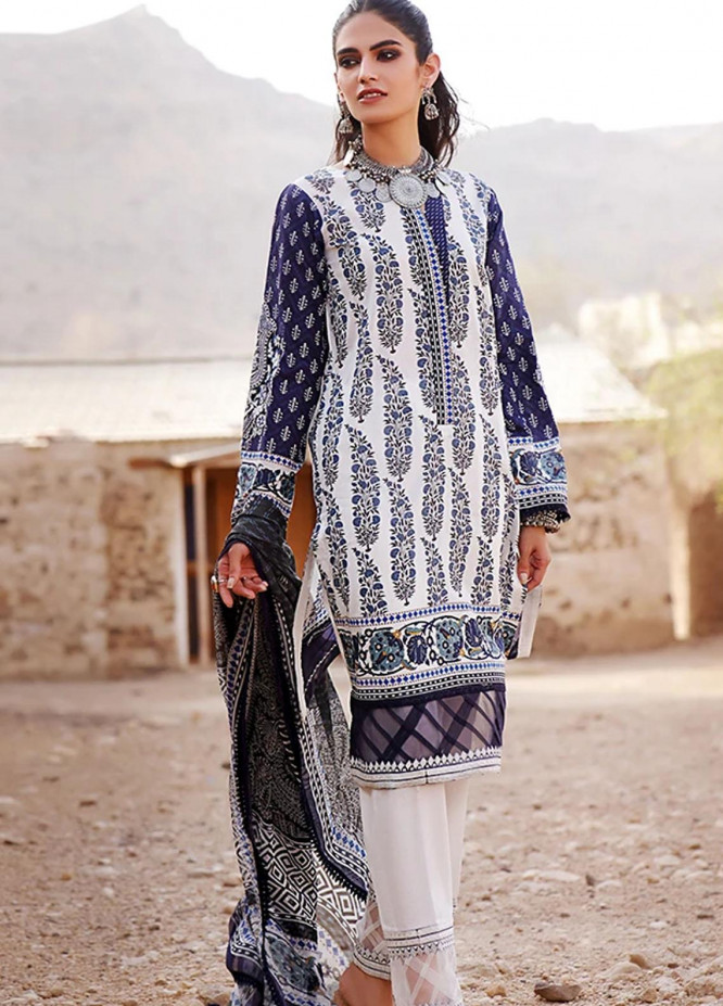 Threads & Motifs Embroidered Lawn Suits Unstitched 2 Piece THM21U 7261 - Summer Collection