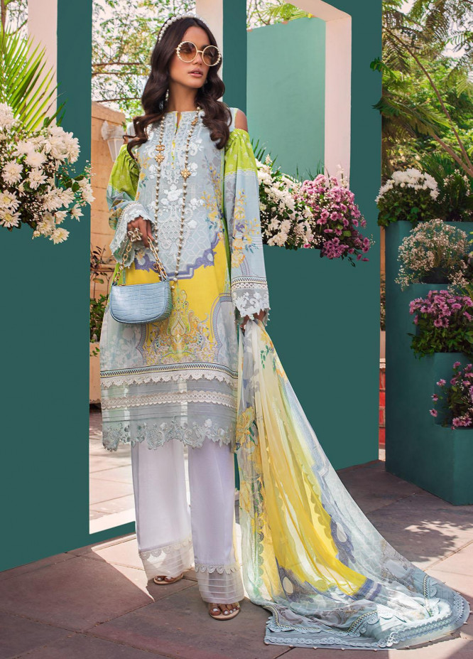Threads & Motifs Embroidered Lawn Suits Unstitched 3 Piece THM21U 7195 - Summer Collection