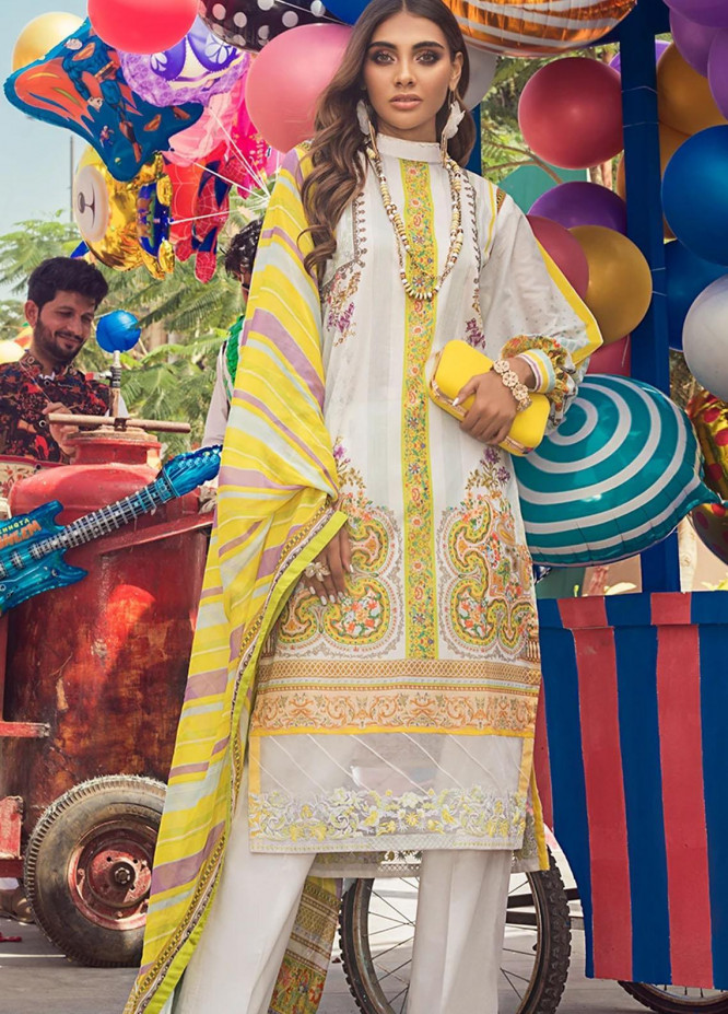 Threads & Motifs Embroidered Lawn Suits Unstitched 3 Piece THM21U 7066 - Summer Collection