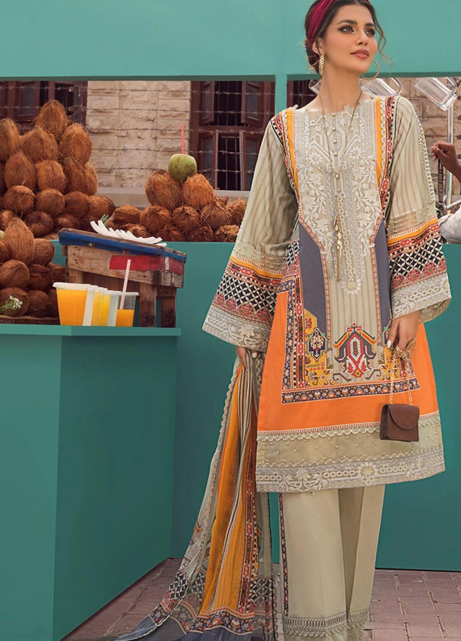 Threads & Motifs Embroidered Lawn Suits Unstitched 3 Piece THM21U 7194 - Summer Collection