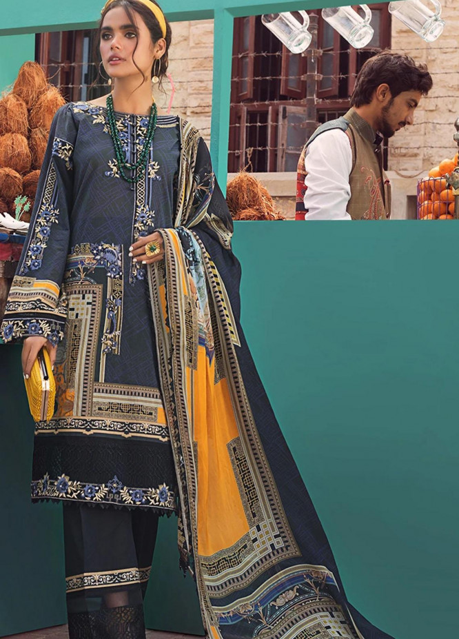 Threads & Motifs Embroidered Lawn Suits Unstitched 3 Piece THM21U 7197 - Summer Collection