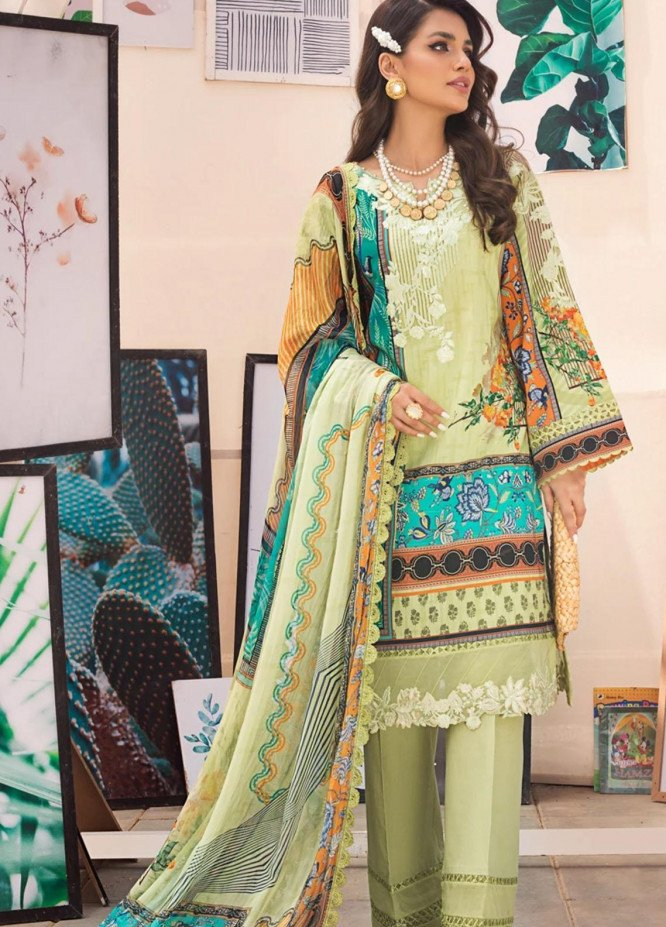 Threads & Motifs Embroidered Lawn Suits Unstitched 3 Piece THM21U 7188 - Summer Collection