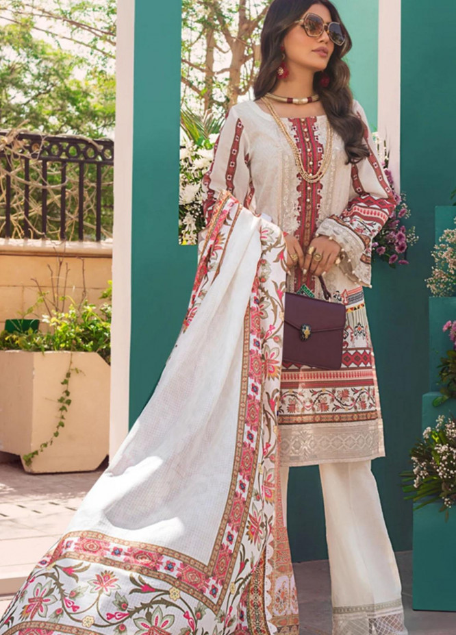 Threads & Motifs Embroidered Lawn Suits Unstitched 3 Piece THM21U 6728 - Summer Collection