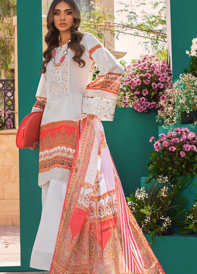 Threads & Motifs Embroidered Lawn Suits Unstitched 3 Piece THM21U 6801 - Summer Collection