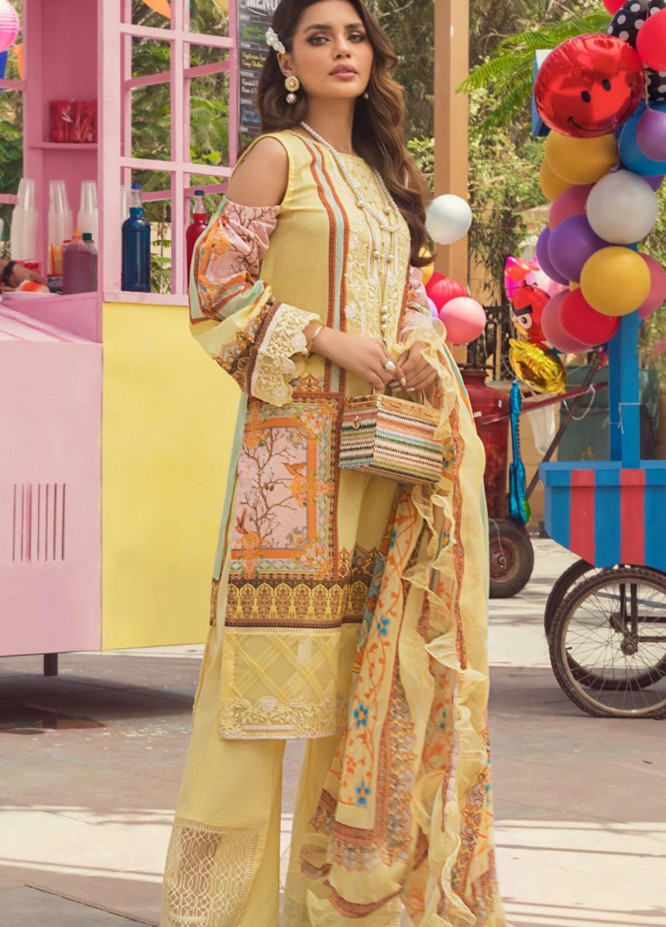 Threads & Motifs Embroidered Lawn Suits Unstitched 3 Piece THM21U 7204 - Summer Collection