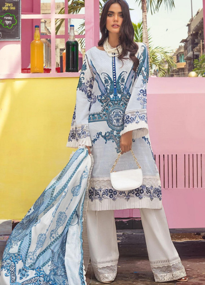 Threads & Motifs Embroidered Lawn Suits Unstitched 3 Piece THM21U 7163 - Summer Collection