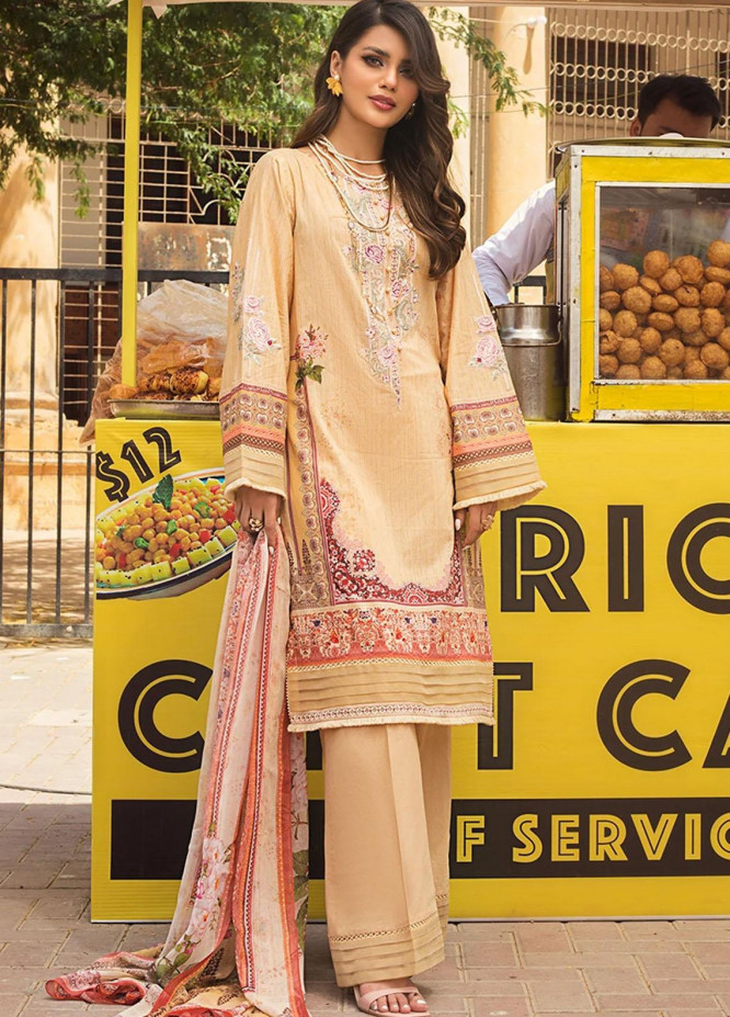 Threads & Motifs Embroidered Lawn Suits Unstitched 3 Piece THM21U 7170 - Summer Collection