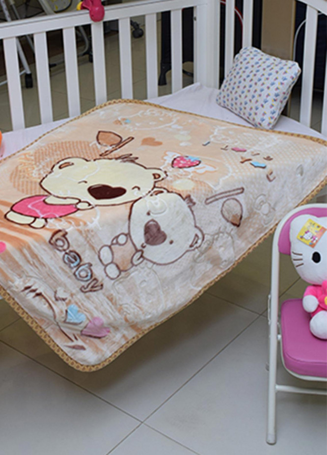 Plush Mink Baby Cots  Blankets  Tiny Tots Cot-2053 - Home & Decor