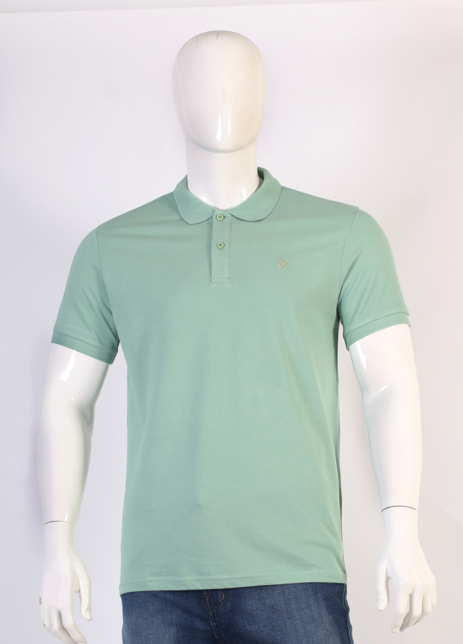Sanaulla Exclusive Range Jersey Polo T-Shirts for Men - Green TKM18S 652