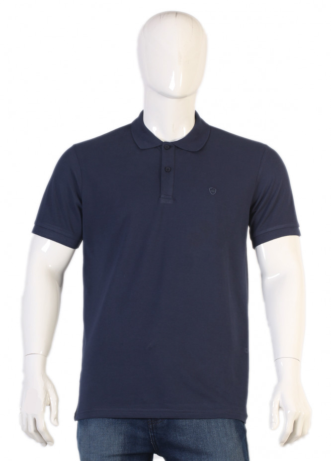 Sanaulla Exclusive Range Jersey Polo Men T-Shirts - Navy Blue TKM18S V-8