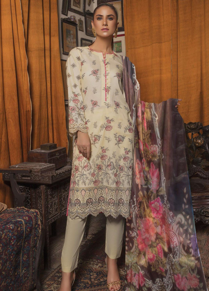 Tohfa by Riaz Arts Embroidered Lawn Suits Unstitched 3 Piece RA21T 04 - Summer Collection