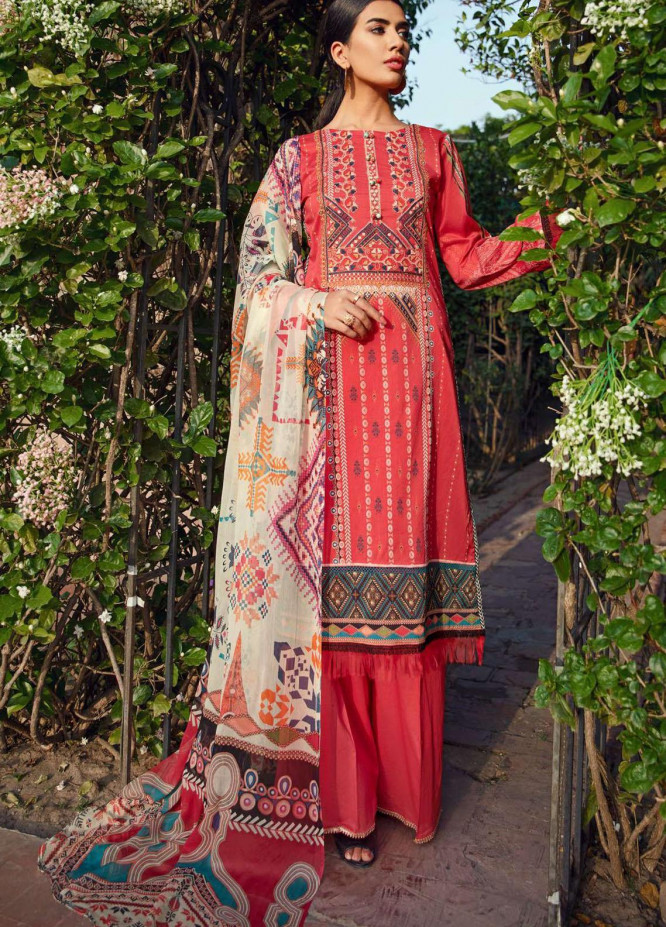 Umang by Motifz Embroidered Lawn Suits Unstitched 3 Piece MT21-LU2 2890 Arabseque - Summer Collection