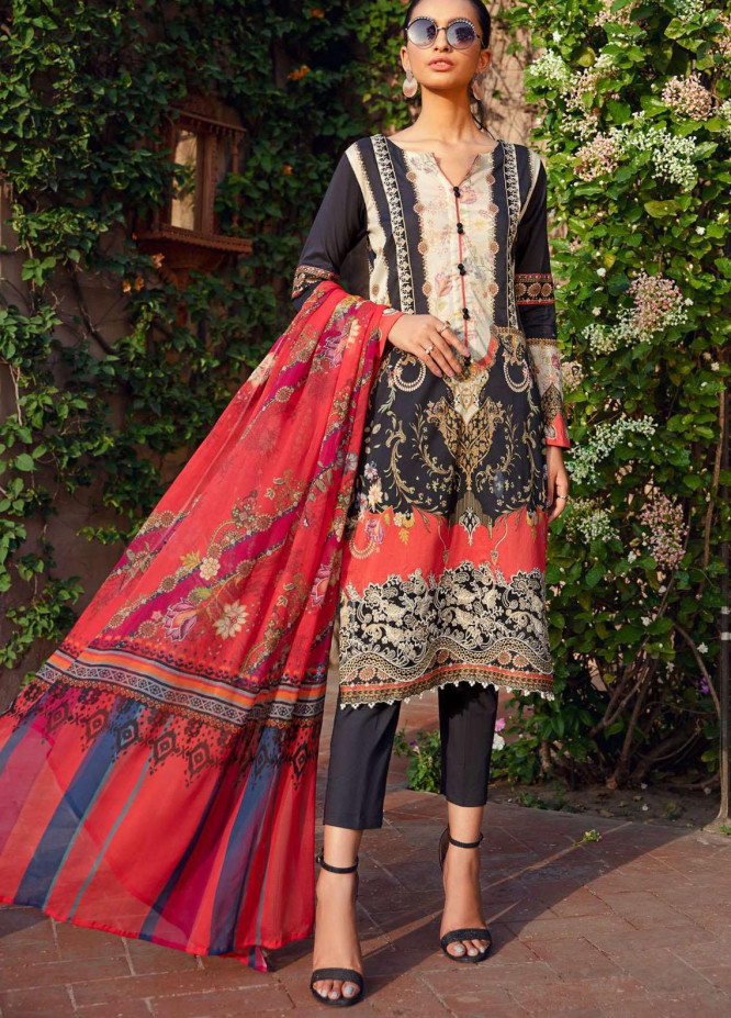 Umang by Motifz Embroidered Lawn Suits Unstitched 3 Piece MT21-LU2 2893 Celtic - Summer Collection