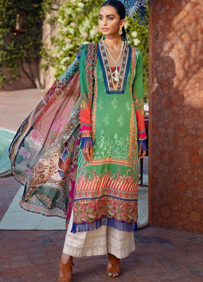 Umang by Motifz Embroidered Lawn Suits Unstitched 3 Piece MT21-LU2 2895 Renee - Summer Collection