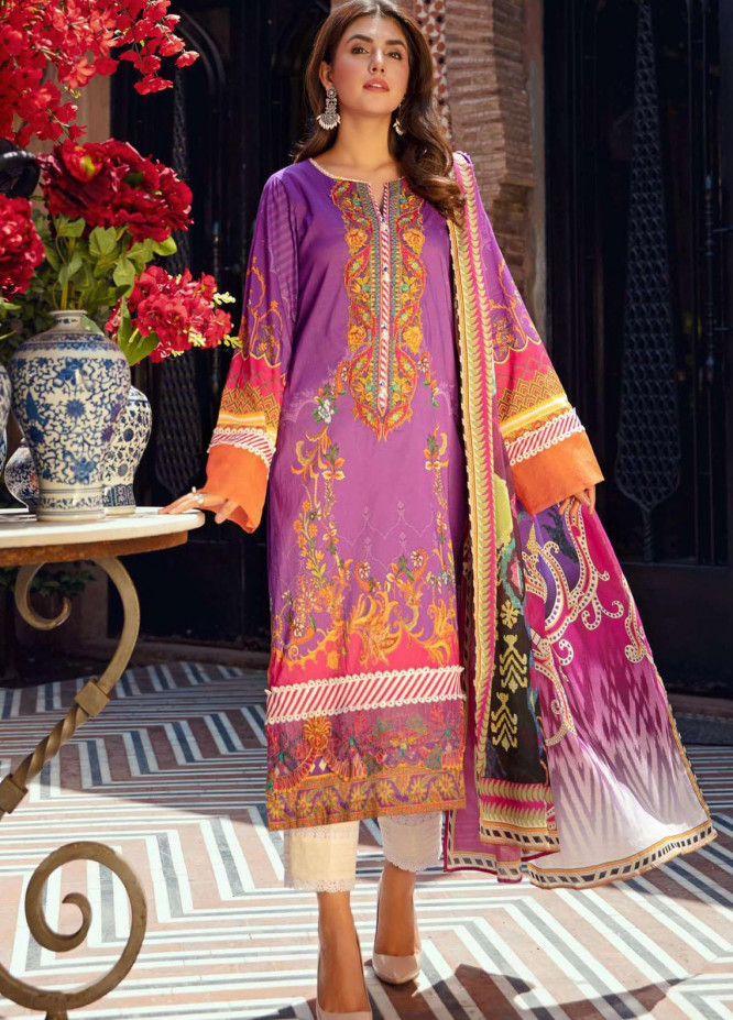 Umang by Motifz Embroidered Lawn Suits Unstitched 3 Piece MT21-LU2 2898 Crimson Garden - Summer Collection