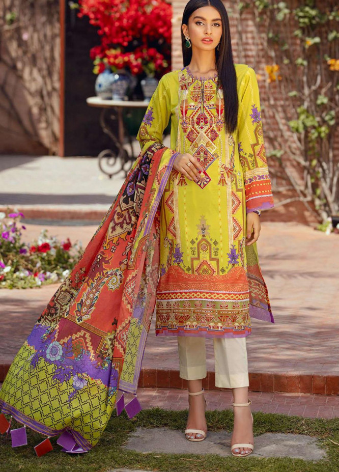 Umang by Motifz Embroidered Lawn Suits Unstitched 3 Piece MT21-LU2 2899 Monotribe - Summer Collection